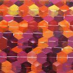 Condomínio Laranja, Tinta spray sobre madeira, 62 x 102 cm, 2012.