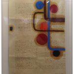 Júlio Villani, Estrutura de Entrada, Óleo sobre documentos Cartoriais, 58 x 42 cm
