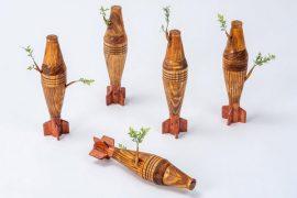 Camille Kachani, Mísseis, Técnica Mista, 30 x 8 cm(Cada)