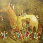 Cavalo Acrílica s/ tela 30 x 40 cm.