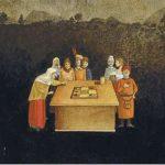 Jogo da Velha Acrílica s/ tela 22 x 27 cm.