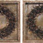Coroa de Flores (par) Cobre 50 cm x 50 cm (cada)