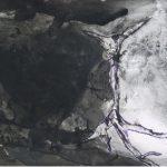 Ricardo Becker Sem título. Série Negros Nanquim n sob vidro jateado 40 x 50 cm, 2006-07