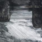 Ricardo Becker Sem título. Série Negros Nanquim sob vidro jateado 40 x 50 cm, 2006-07