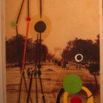 Júlio Villani Duchamp Echafoudage Óleo e Guache sobre Foto 90 x 54 cm, 2011.