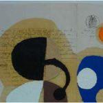 Júlio Villani Rosaria Sorrindo Óleo sobre Documentos Cartoriais 30 x 40 cm