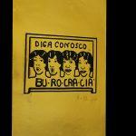 Burocracia, Fotogravura em metal, 49,5 x 29,5 cm, 1975
