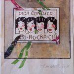 Burocracia, Guache e nanquim sobre papel, 25,5 x 20,5 cm, 1975.