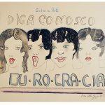 Burocracia, Guache e nanquim sobre papel, 40 x 70 cm, 1978.