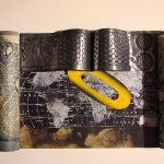 Rolos com Oval amarelo, Chumbo, fotogravura em metal e serigrafia, 21 x 36 cm, 1993
