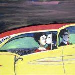 Banco de Trás – Yellow Car Óleo sobre tela 70 x 100 cm