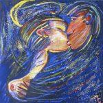 Inside Couple – Mar Revolto Acrílica e óleo sobre tela 100 x 100 cm