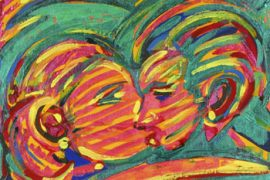 Kiss 2 Acrílica e óleo sobre tela 28 x 35 cm, 2004