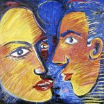 The Couple Circle Acrílica e óleo sobre tela 120 x 120 cm, 2004