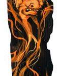 """Felipe Yung """"asia e queimação"""" Acrílica sobre madeira 49 x 14 cm, 2009"""