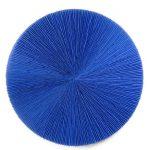 Marcos Coelho Benjamim Roda Azul Objeto em Zinco pintado em Azul 110 cm de diâmetro