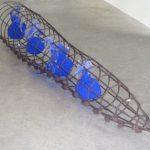 Marcos Coelho Benjamim Cone Ferro e Pigmento Azul 56 x 310 cm, 1989