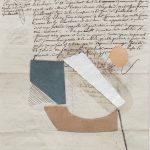 Júlio Villani, Bateau ivre, Papel e oleo sobre manuscrito, 25 x 17,5 cm, 2016