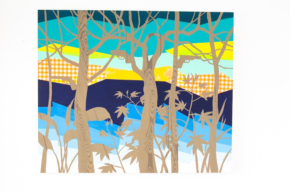 Floresta, Acrílica sobre tela, 150X180cm, 2015
