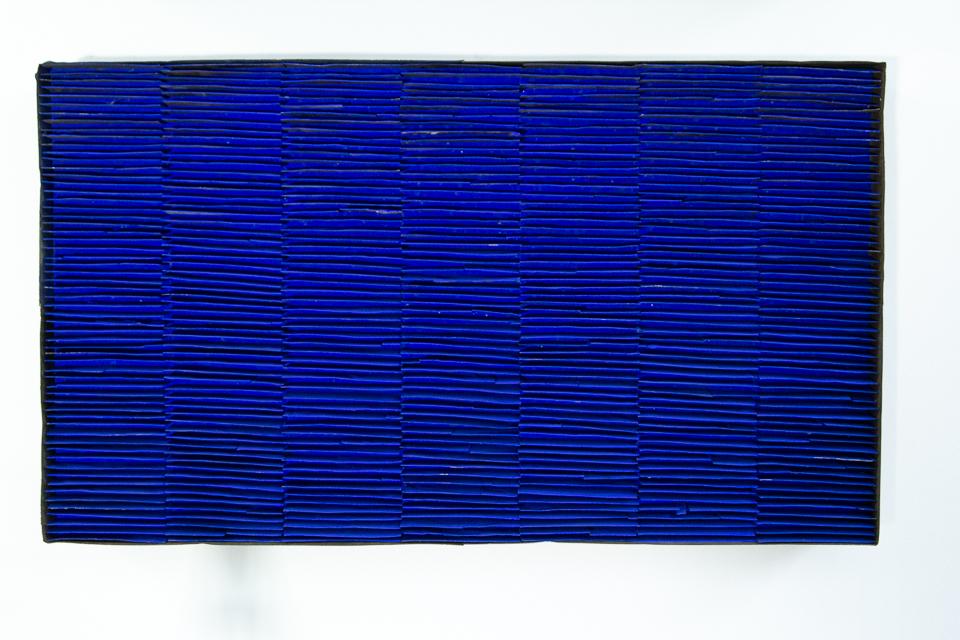 Retângulo, Zinco oxidado pintado, 70 x 40 cm, 2003.