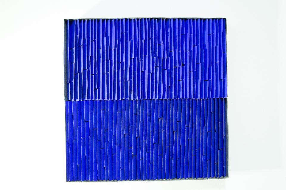 Quadrado, Zinco oxidado pintado, 50 x 50 x 5 cm, 2015