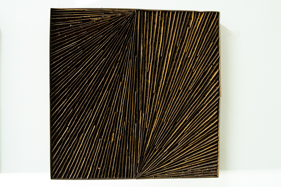 Quadrado, zinco oxidado e enferrujado, 50 x 50 cm, 2004.