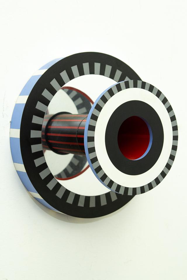 Porvir, Aceílico, pet, pvc e espelhos sobre mdf, 40 x 21,5 cm, 2016