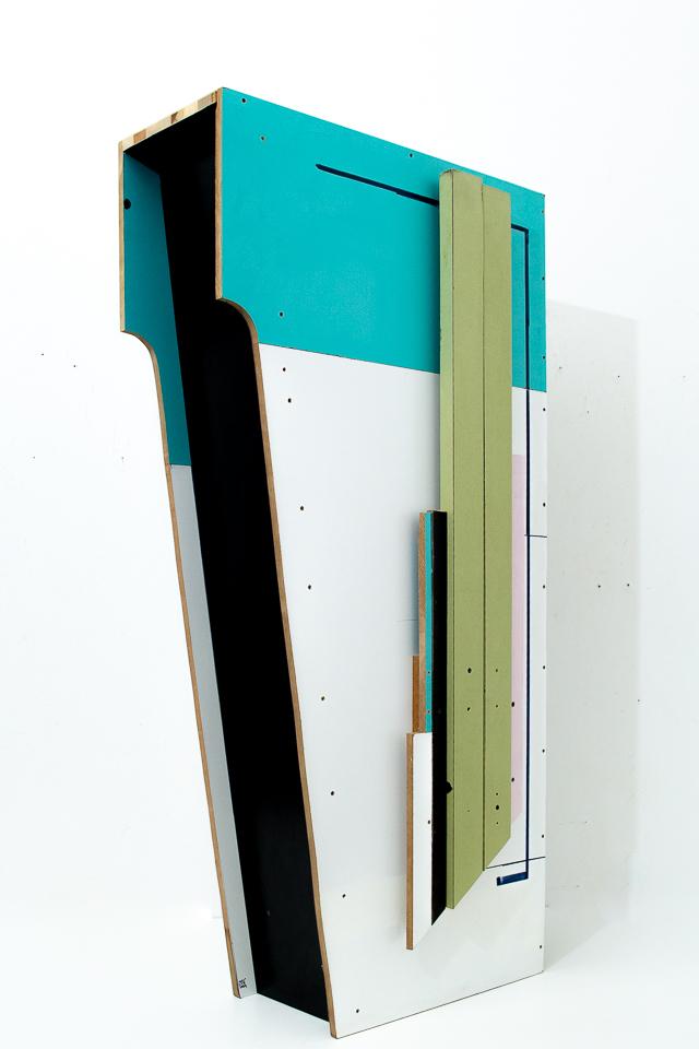 Christian Henkel, BH I, Madeira, 140 x 70 x 28 cm, 2018