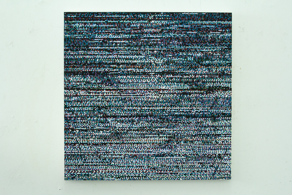 DAG, Sem Título, Técnica mista sobre tela, 80 x 80 cm, 2015