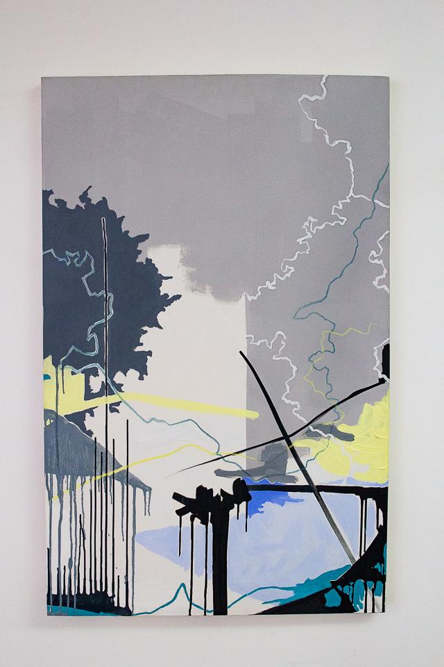Juliana Gontijo, Sem Título, Acrílica, pastel oleoso e bastão a óleo sobre tela, 110 x 70 cm