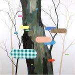 James Kudo, Sem Título, Acrílica sobre tela, 80 x 80 cm, 2013.