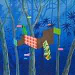 James Kudo, Sem Título, Acrílica sobre tela, 80 x 80 cm, 2015.
