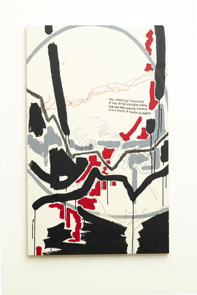Juliana Gontijo, Sem medo, Acrílica e pastel oleoso sobre tela com chassi de madeira, 130 x 81 cm, 2018