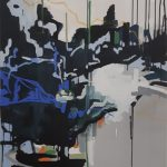 Juliana Gontijo, sem titulo, acrilica, pastel oleoso e bastao a oleo sobre tela,110x70cm