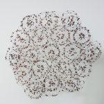 Luiz Hermano, Trevo, Madeira e cobre, 108 x 95 x 18 cm, 2017