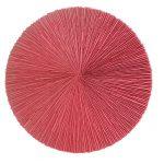 Roda vermelha, zinco oxidado pintado em vermelho, 100 cm