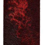 Retangulo Vermelho, Zinco oxidado e pintado, 160 x 106 cm, 2012