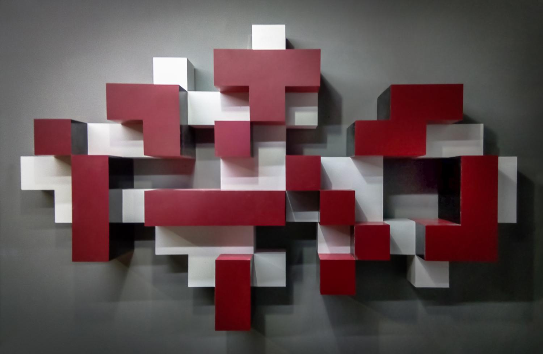 Tetris Ultimate, Fôrmica e PET sobre madeira. 225 x 135 x 30 cm, 2020