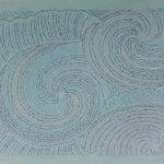 Rosana Ricalde, Serie Mares, desenho sobre papel de arroz azul, 68x93 cm, 2018
