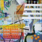 Heleno Bernardi, Sem titulo, acrilica e spray acrilico sobre tela 120 x 80 cm, 2016