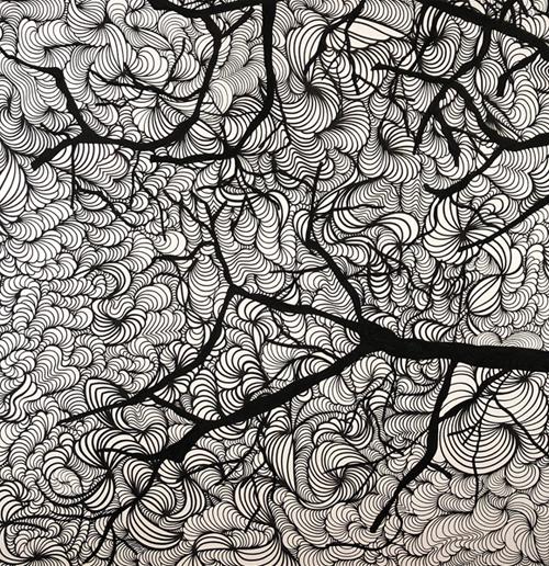 O Outono não chegou, Posca sobre tela,150 x 150 cm