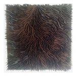 Marcos Coelho Benjamim, Quadrado Marrom, Zinco oxidado pintado na cor Cobre, 50 x 50 cm, 2013.
