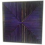 Marcos Coelho Benjamim, Quadrado Roxo, Zinco oxidado pintado em Roxo, 27 x 27 cm, 2005.