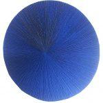Marcos Coelho Benjamim, Roda Azul, Zinco oxidado pintado em Azul, 110 cm de diâmetro, 2013.