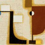 Júlio Vilani Super 8 Óleo e papel sobre documentos notariais, 30 x 42 cm, 2007.