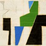 Júlio Vilani Floresta Óleo e papel sobre documentos notariais, 42 x 58 cm, 2008.