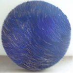 Marcos Coelho Benjamim Roda Azul Zinco oxidado e pintura sobre madeira, 80 cm de diâmetro, 2007.
