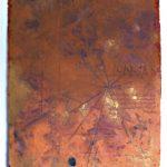 Hilal Sami Hilal Série Cartas Papel feito a mão de fibra de algodão, pigmentos e inscrições em relevo 90 x 70 cm, 2012.