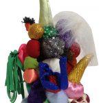 Maria lynch, Escultura, Acrilon e tecido, 22 cm de altura