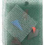 Arthur Piza, Trame 8, Arame galvanizado e zinco pintado em acrílica, 62 x 45 x 5 cm